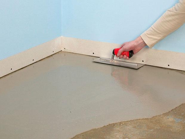 Выравниваем бетонный пол своими руками